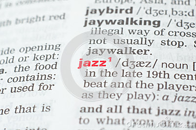 Definition of the word jazz