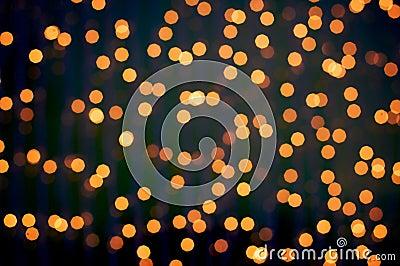Defocus of golden lights