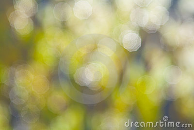 Defocus of green lights