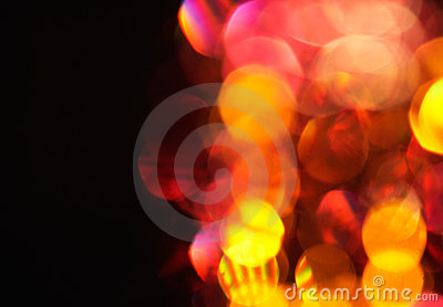 Defocus of red and yellow lights.