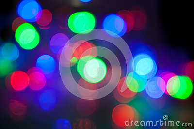 Defocused abstract festive lights