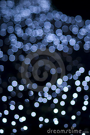 Free Defocused Blue Light Dots Against Black Background Royalty Free Stock Photos - 13858628