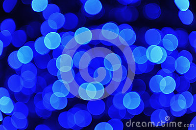 Defocused Blue Lights