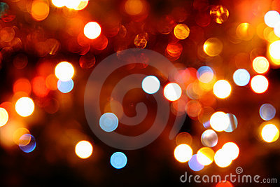 Defocused colored circular lights