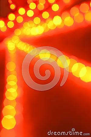 Defocused glowing lights
