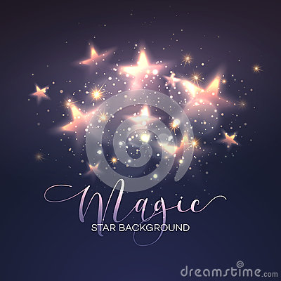 Free Defocused Magic Star Background. Vector Royalty Free Stock Images - 63598189