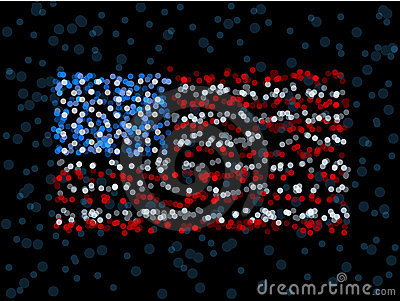 Defocused US flag