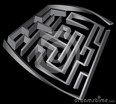 Deformed labyrinth 3d
