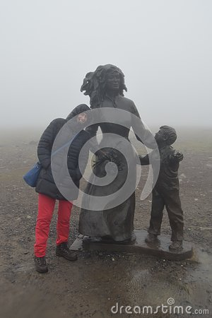 Free Defying Rain, Fog And Wind At The North Cape Norway Stock Photos - 126943503