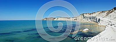 Dei krajobrazowy scala Sicily turchi