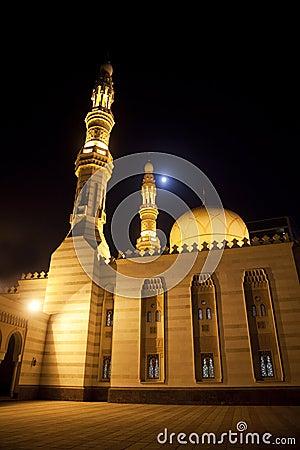 Deira City Center Mosque at Night, Dubai, UAE