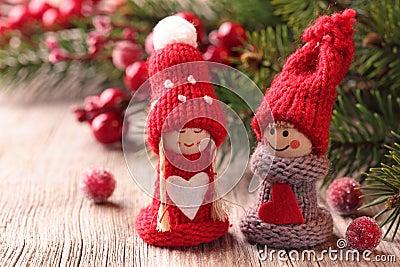 Dekoracja mały Santa dwa