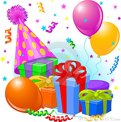 Dekoracja urodzinowi prezenty