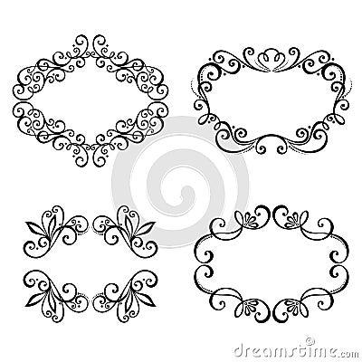 Dekoracyjna Ornamentacyjna rama dla teksta.