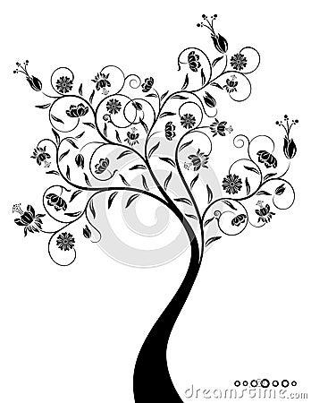 Dekoracyjny fantastyczny drzewo