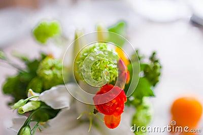 dekoration mit blumen und frucht stockfotos bild 34391383. Black Bedroom Furniture Sets. Home Design Ideas