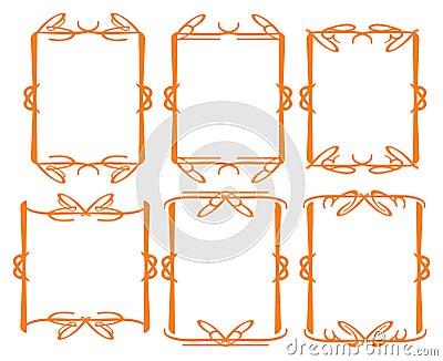 Dekorativ designgräns för tappning