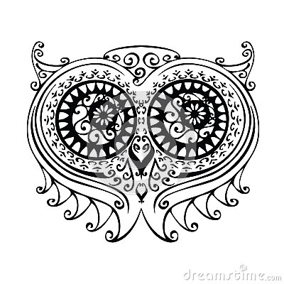 Dekorativ owlillustration