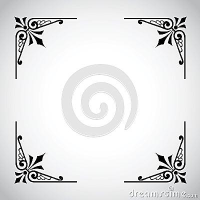 Dekorativ serietappning för ram