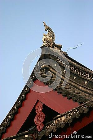 Dekorative chinesische Fassade