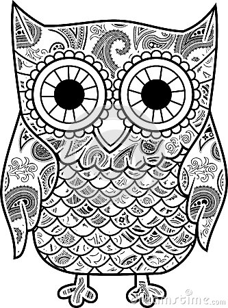 Adult Coloring Pages Printable Owls