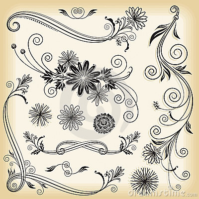 Dekorative mit Blumenelemente