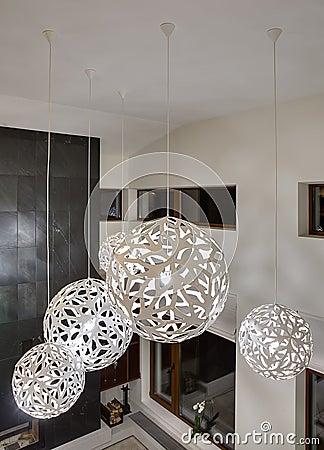 Dekorative Runde Lampen Stockfoto - Bild: 68947804