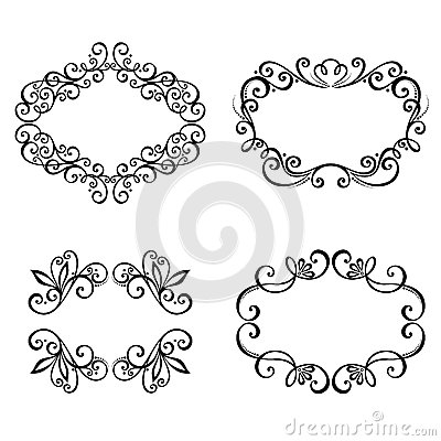 Dekorativer Ornamentrahmen für Text.