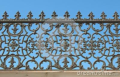 Dekorativt staketjärn för cast