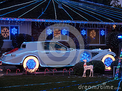 Dekorerad jul inhyser och Phantom Zimmer luxur
