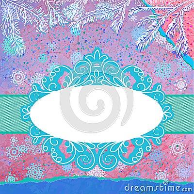 Dekorująca błękitna choinka. EPS 8