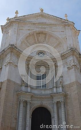 Del av den Cadiz domkyrkan
