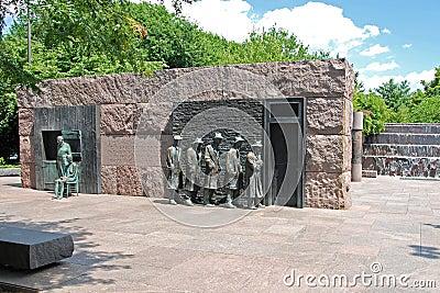 Delano Franklin głoduje ja Roosevelt rzeźba Obraz Stock Editorial