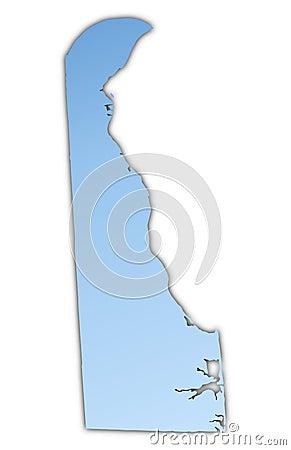 Delaware(USA) map