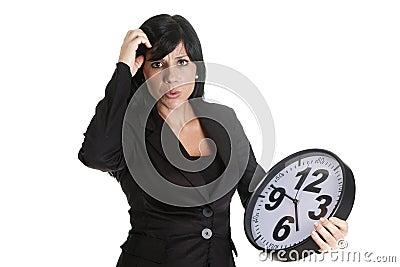 Delay businesswoman