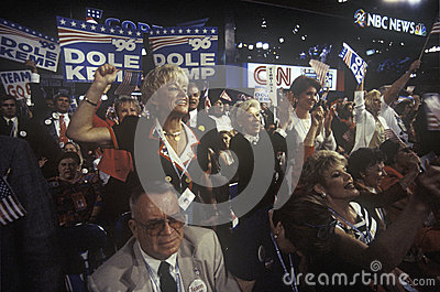 Delegates root for their candidates Editorial Stock Image