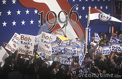 Delegates  supporting Bob Dole and Jack Kemp Editorial Stock Image