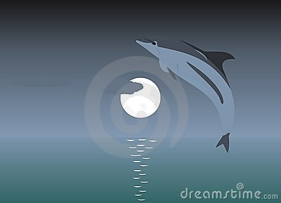 Delfinu doskakiwanie