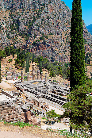Delfoi archaeological site in Greece
