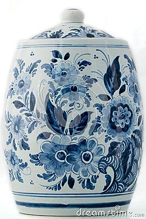 Free Delft Blue Pot Stock Image - 4854811