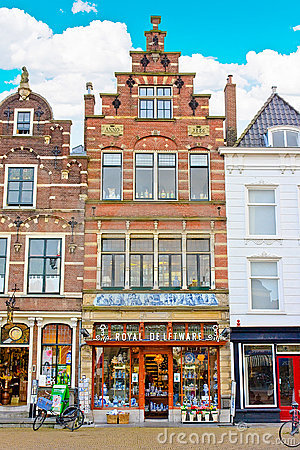 Delft Houses Architecture Editorial Photography