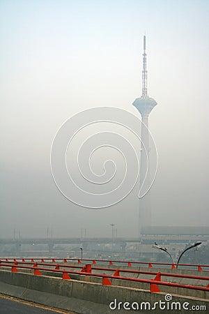 Free Delhi Fog Mornings On Towering Skyscraper Building Stock Photography - 673202