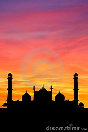 Delhi Mosque sunset