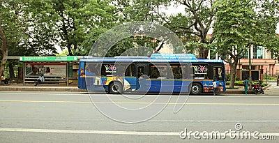 Delhi sightseeing Bus Editorial Photo