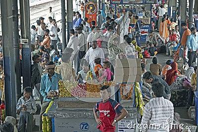 Delhi Train Station Editorial Photography