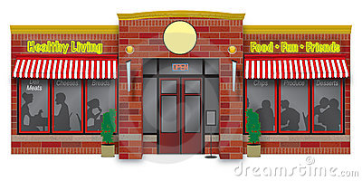 Deli storefront illustration