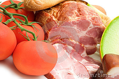 Delicacy mellon ham and tomato