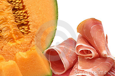 Delicacy -melon and meat