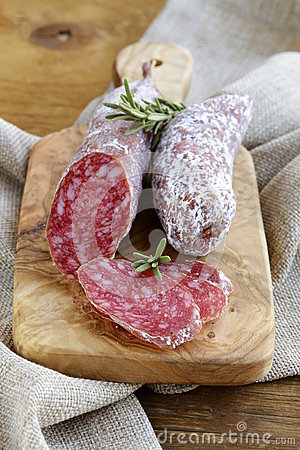 Delicacy smoked sausage (pepperoni)