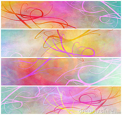 Delicate abstract grunge headers